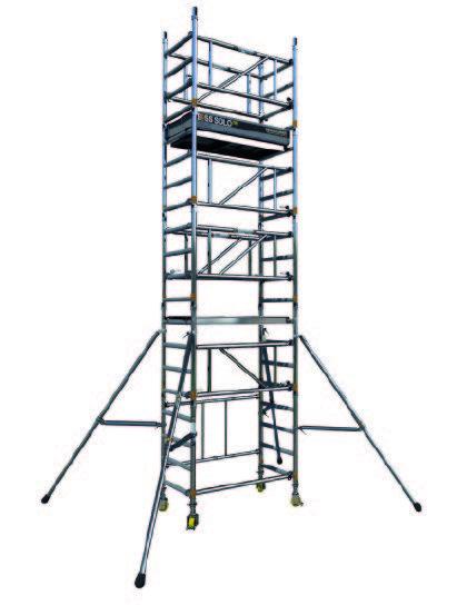 Single width access tower blue