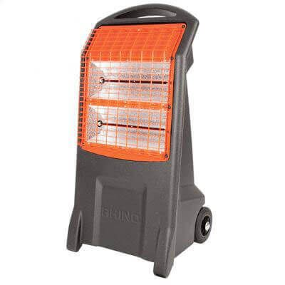 orange and grey portable infrared radiant heater