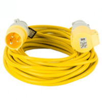 Defender 14m Extension Lead 16a 2.5mm Yellow 110v